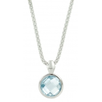 "Ketting - 925 Zilver W/CHN 18""WH. RHODIUM PLATE - Stone: SKY BLUE TOPAZ"