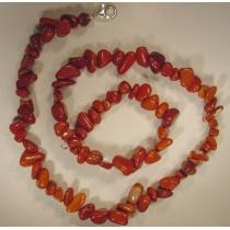 nia- Rode Jaspis Splitcollier