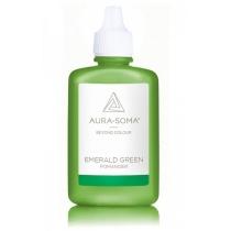 """Smaragd Groen/Emerald green Pomander P10 - ''Recht op je doel af te gaan""""."""